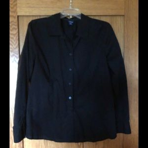 Black basic additions size large fitted blouse